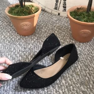 Mossimo Supply Co. Shoes - Black d'orsay flats with shiny black sparkly studs